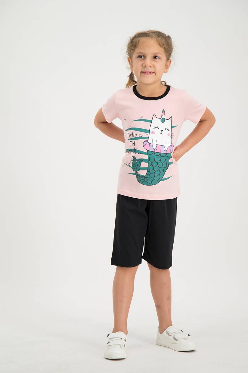 RolyPoly - RolyPoly Kız Çocuk kapri Takımı Açık Pembe (1)
