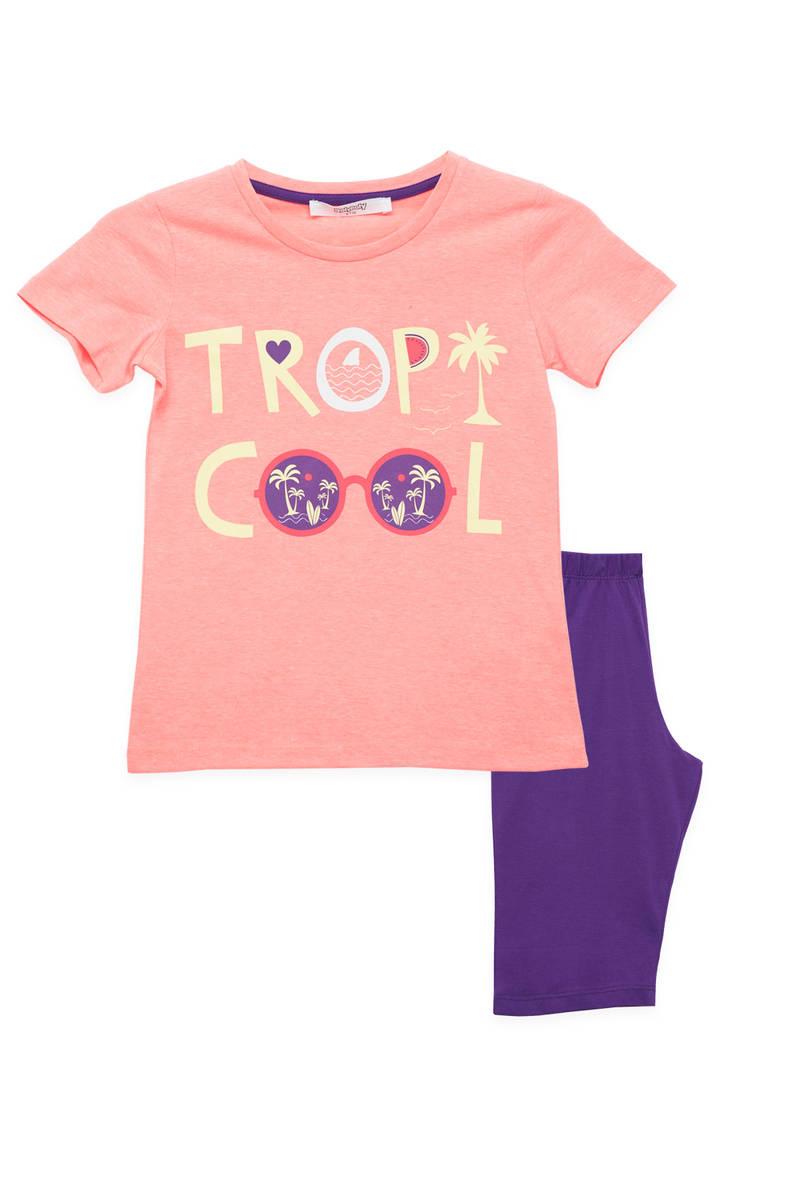 RolyPoly - RolyPoly Kız Çocuk Kapri Takım Fosforlu Oranj