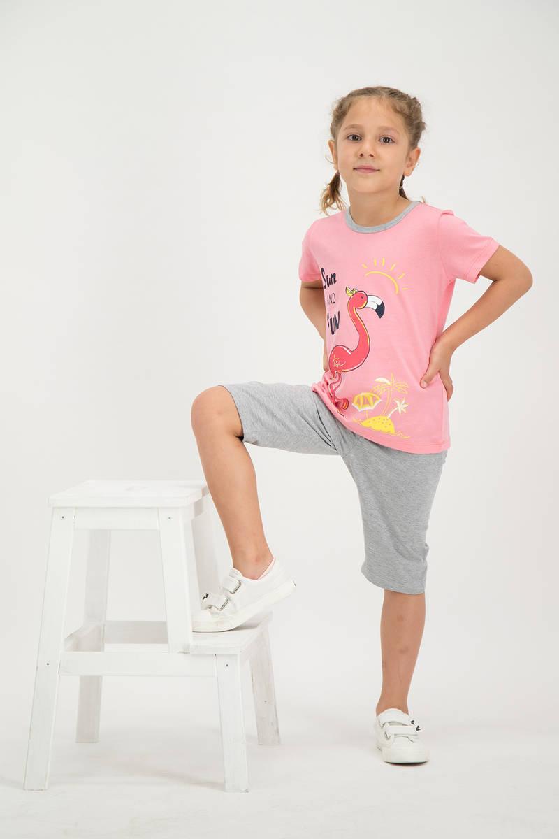 RolyPoly - RolyPoly Kız Çocuk kapri Takımı Pembe (1)