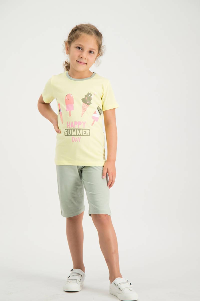 RolyPoly - RolyPoly Kız Çocuk kapri Takımı Sarı (1)