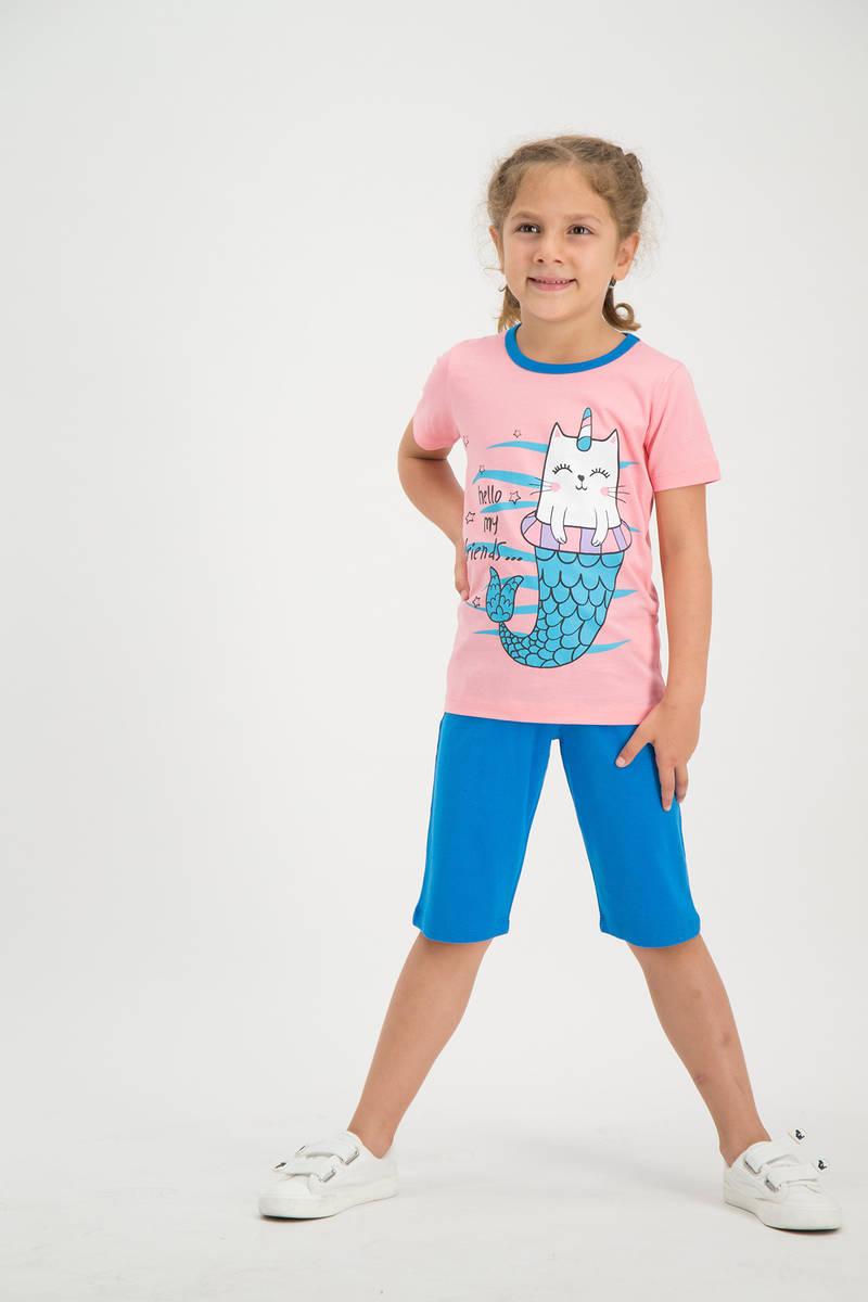 RolyPoly - RolyPoly Kız Çocuk kapri Takımı Şeftali