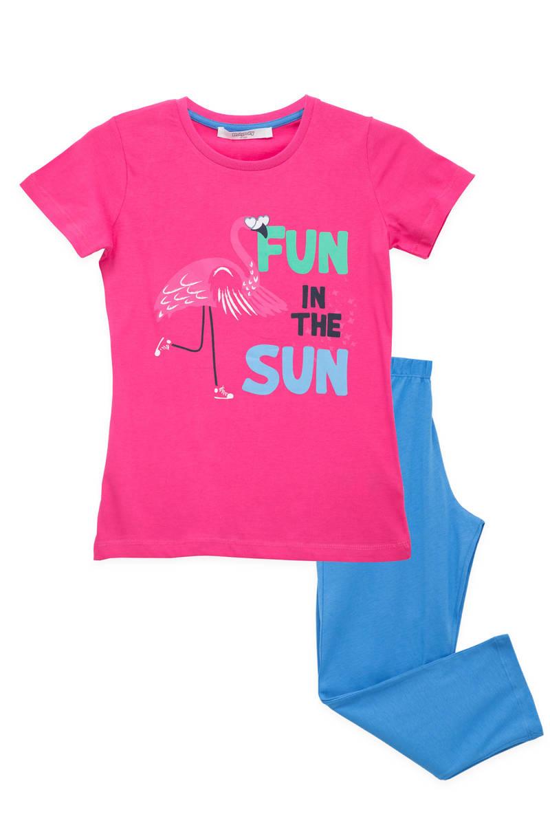 RolyPoly - RolyPoly Kız Çocuk Pijama Takımı Fuşya