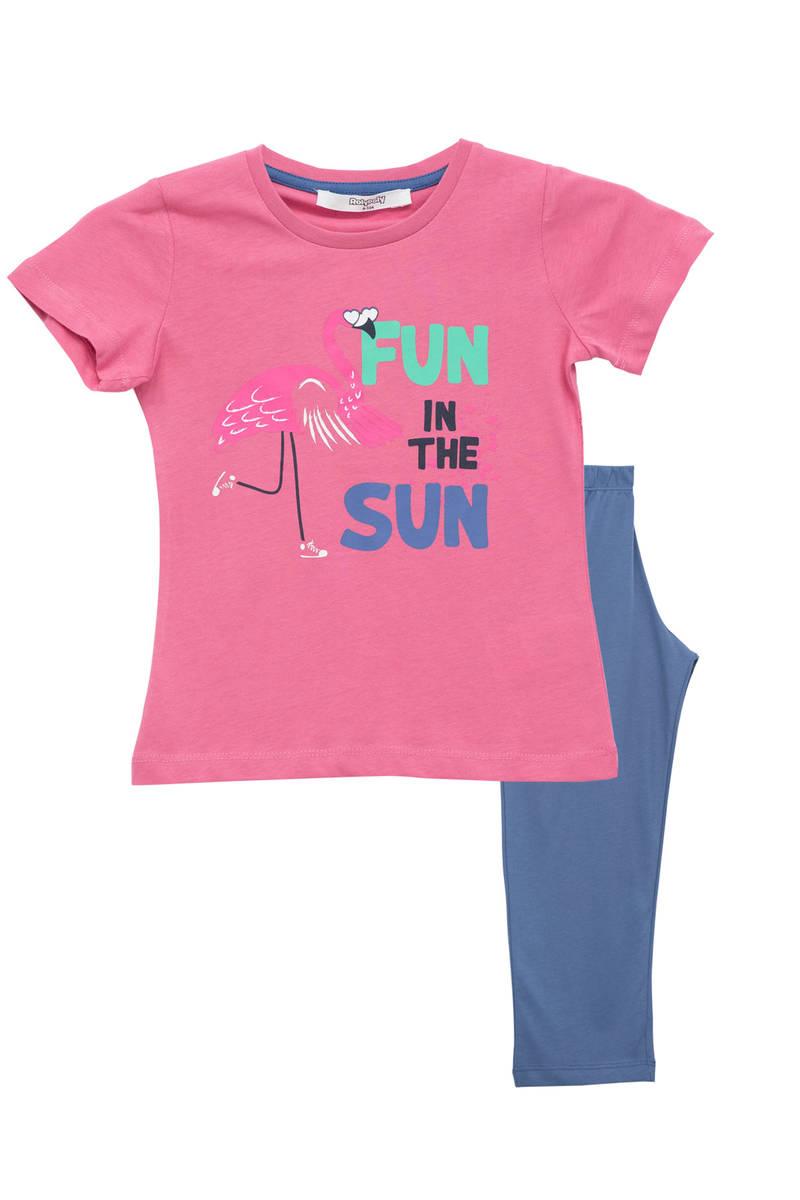 RolyPoly - RolyPoly Kız Çocuk Pijama Takımı Gül Kurusu