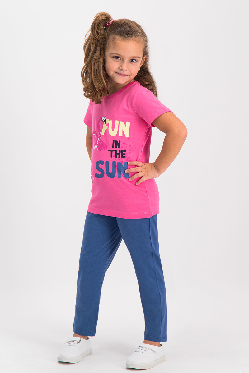 RolyPoly - RolyPoly Kız Çocuk Pijama Takımı Pamuk Şekeri