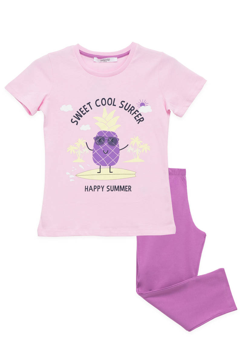 RolyPoly - RolyPoly Kız Çocuk Pijama Takımı Pembe