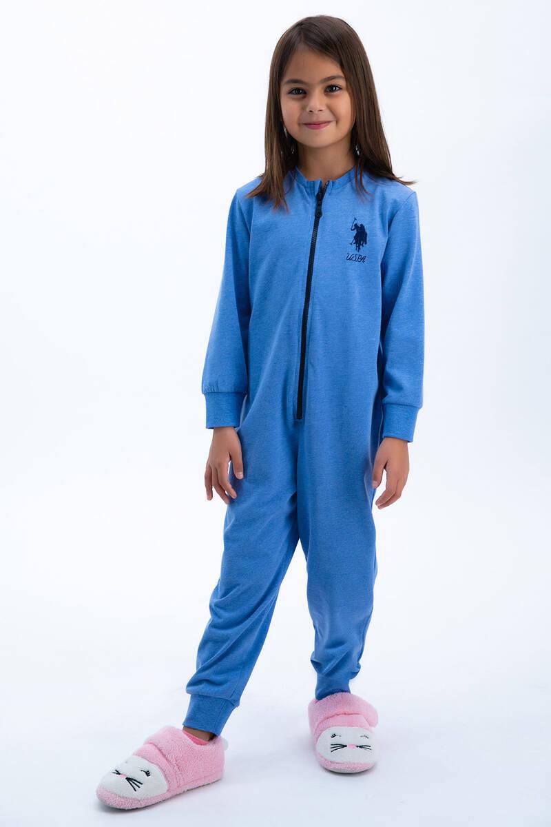 U.S. Polo Assn - U.S: Polo Assn Basic Mavi Kız Çocuk Tulumu