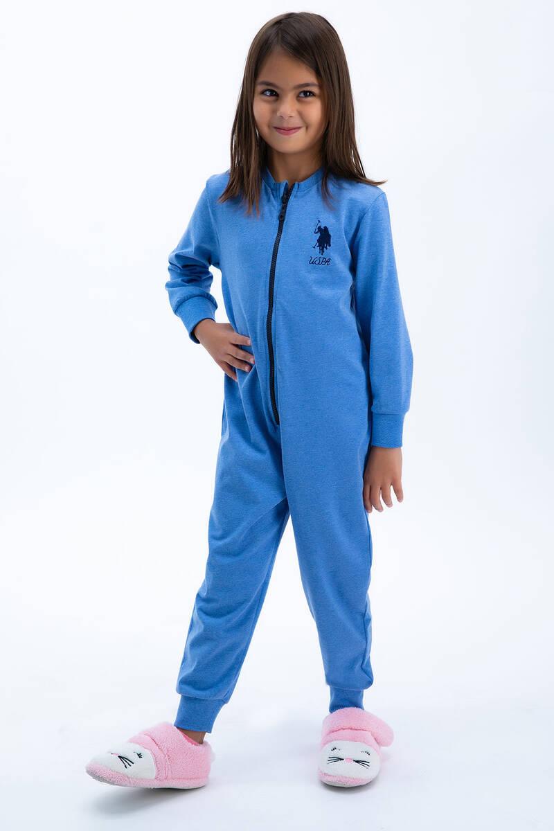 U.S. Polo Assn - U.S: Polo Assn Basic Mavi Kız Çocuk Tulumu (1)