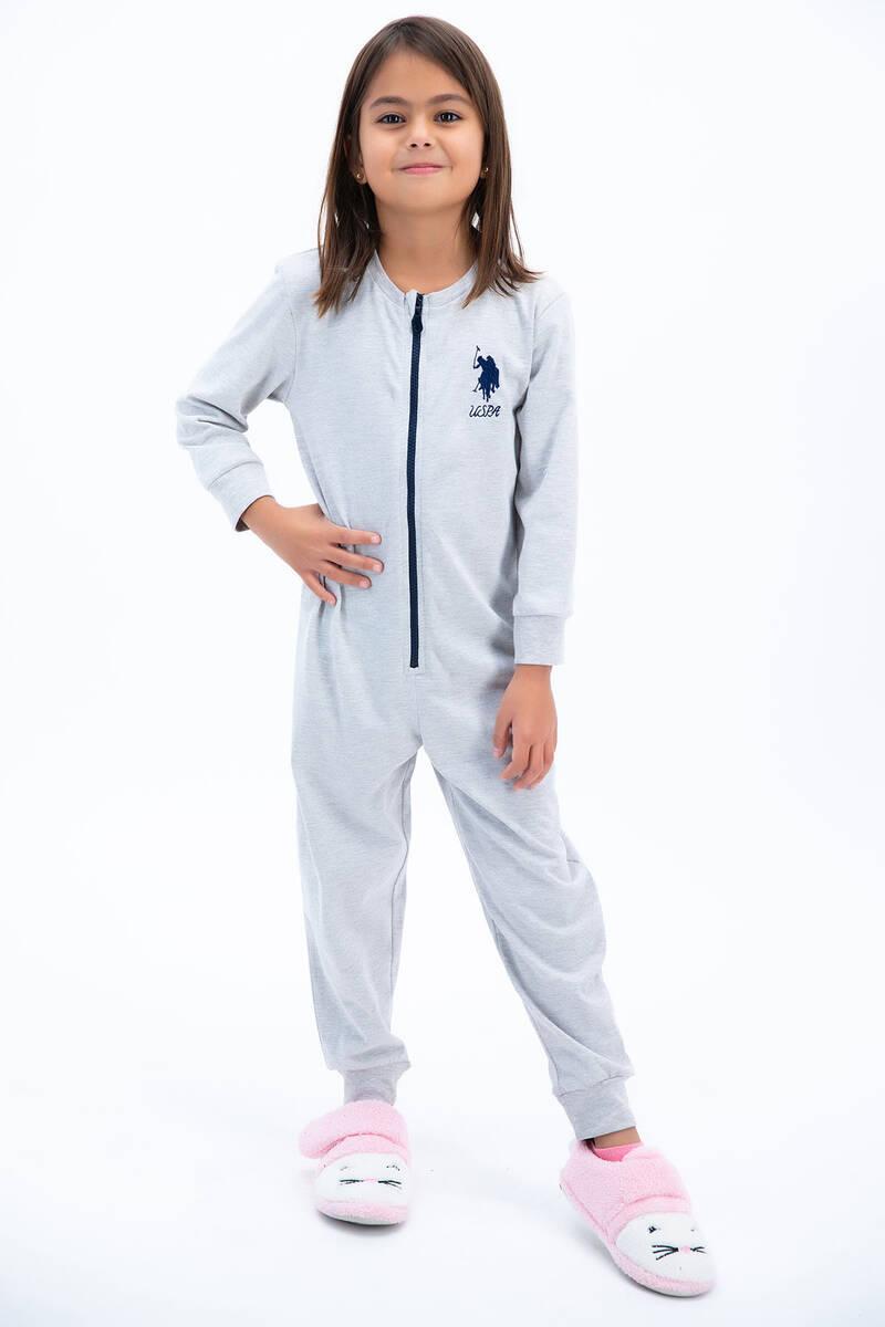 U.S. Polo Assn - U.S: Polo Assn Basic Bejmelanj Kız Çocuk Tulumu
