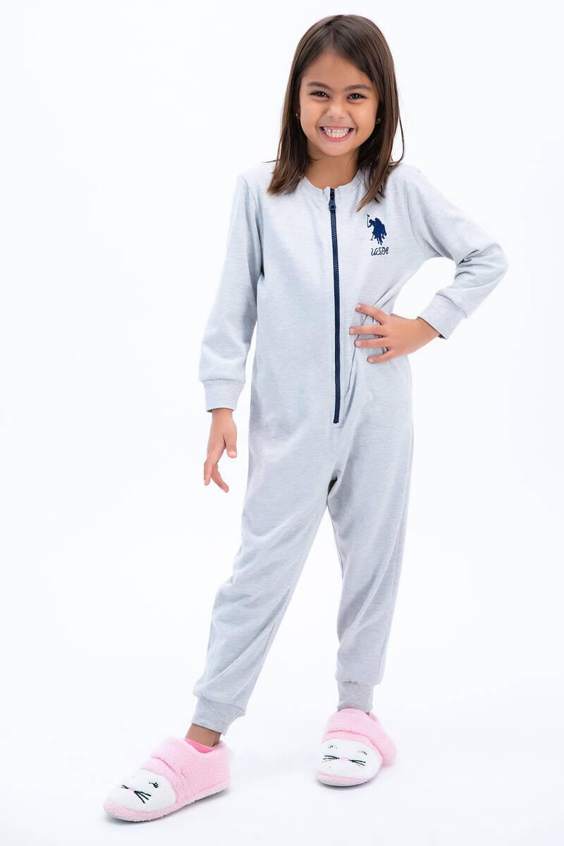 U.S. Polo Assn - U.S: Polo Assn Basic Bejmelanj Kız Çocuk Tulumu (1)