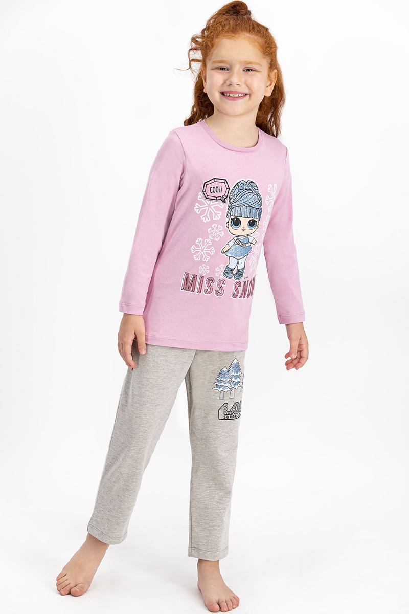 LOL - Lol Lisanslı Açık Gül Kurusu Kız Çocuk Pijama Takımı