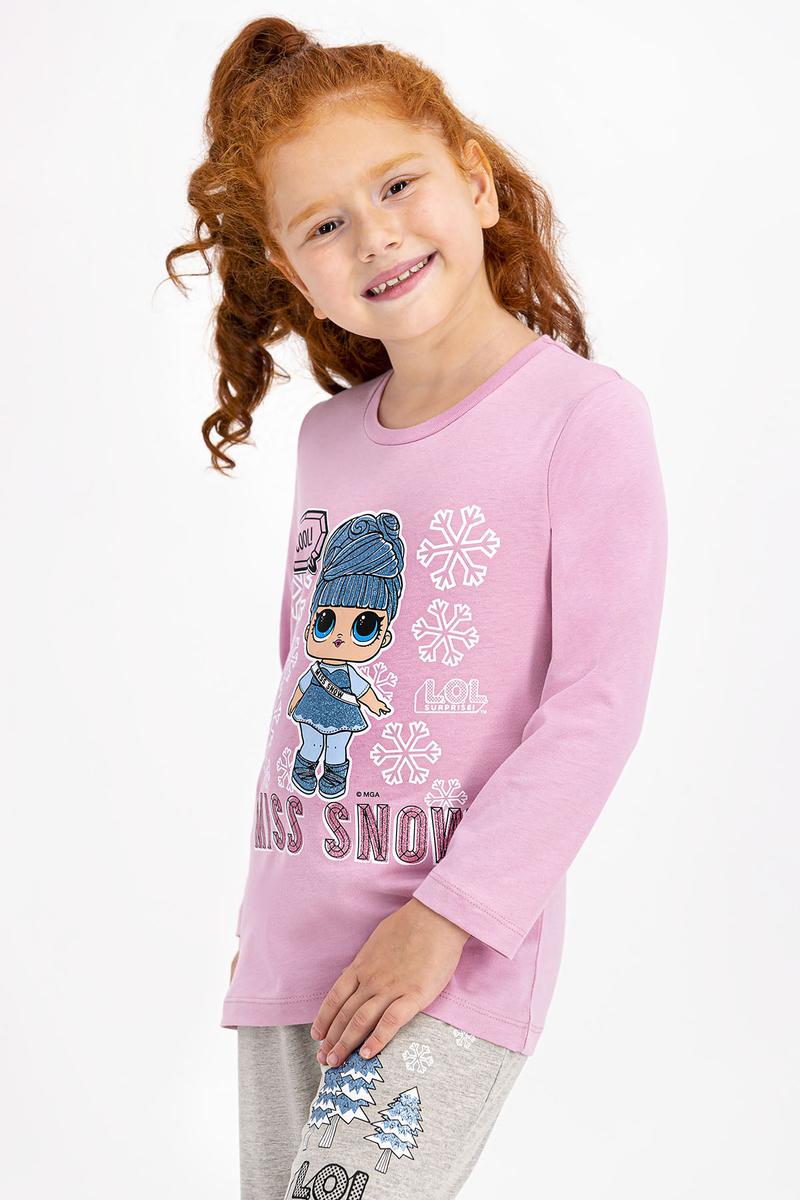 LOL - Lol Lisanslı Açık Gül Kurusu Kız Çocuk Pijama Takımı (1)