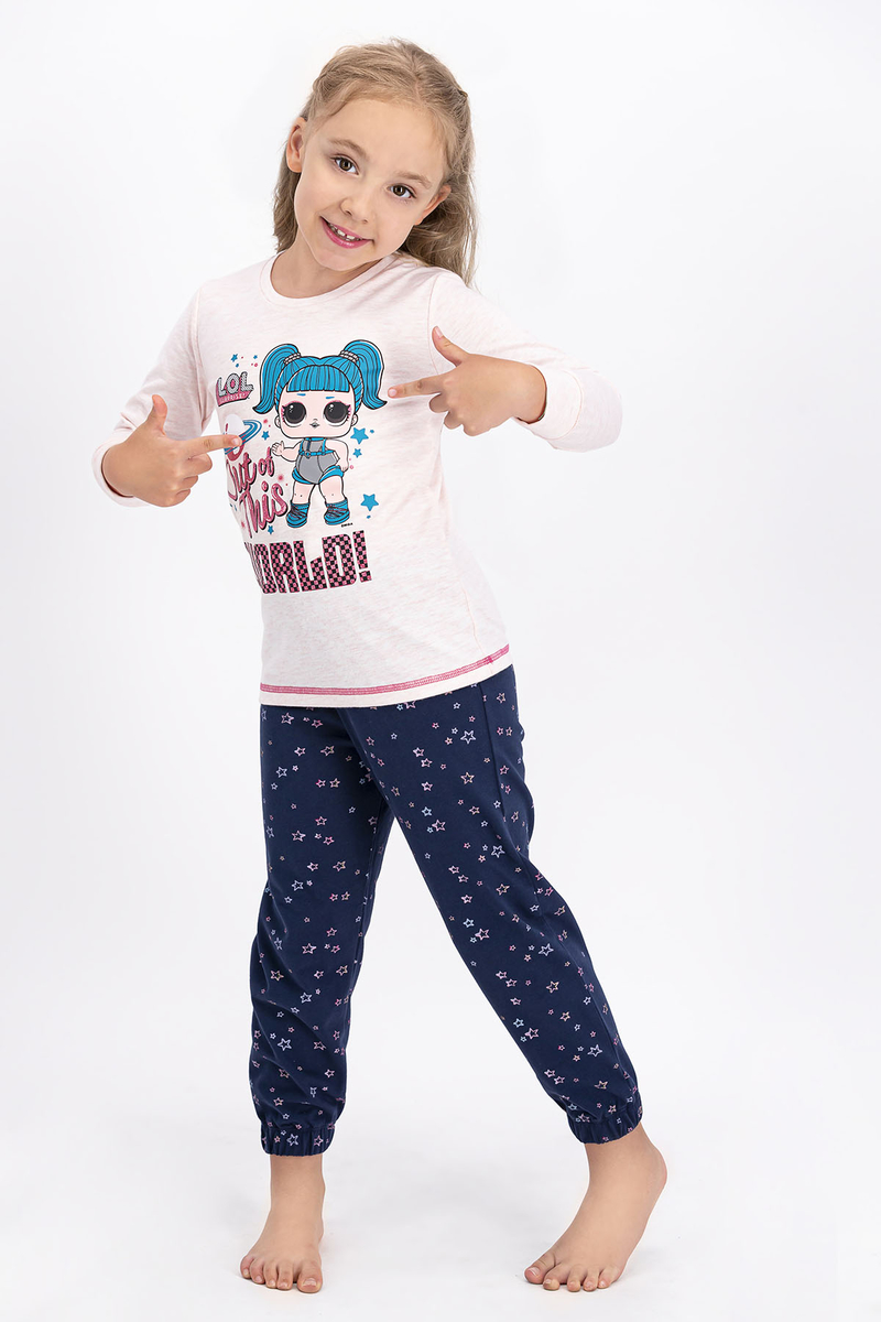 LOL - Lol Lisanslı Pembemelanj Kız Çocuk Pijama Takımı