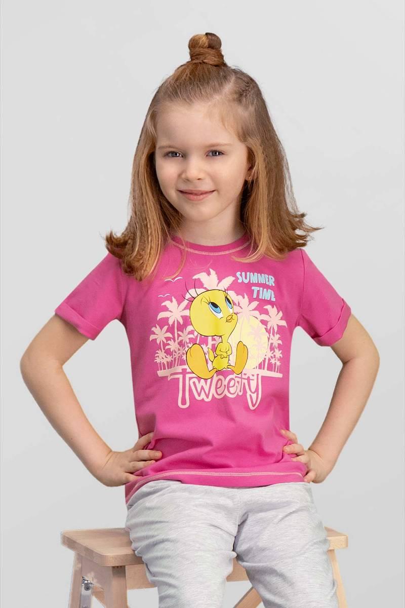 Looney Tunes - Looney Tunes Lisanslı Fuşya Kız Çocuk T-Shirt