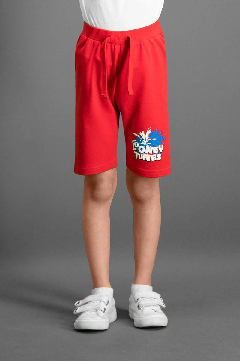 Looney Tunes - Looney Tunes Lisanslı Kırmızı Erkek Çocuk Bermuda
