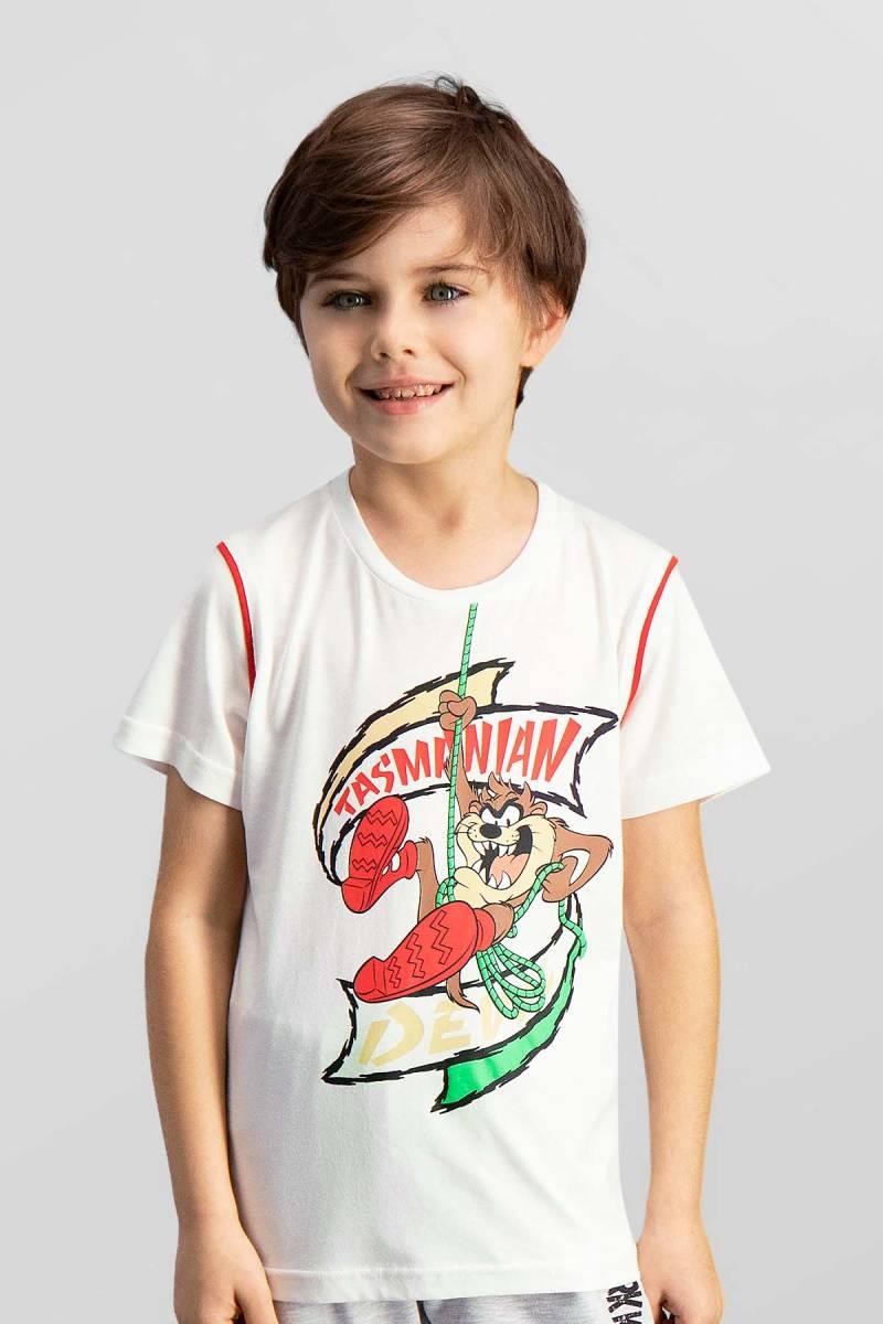 Looney Tunes - Looney Tunes Lisanslı Krem Erkek Çocuk T-Shirt