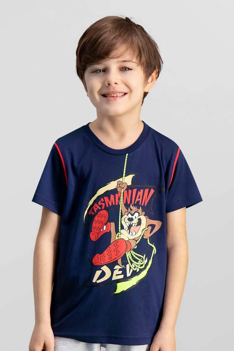 Looney Tunes - Looney Tunes Lisanslı Lacivert Erkek Çocuk T-Shirt