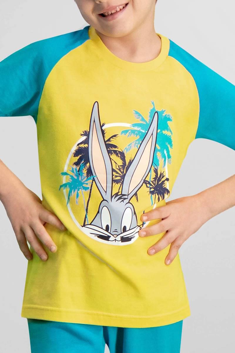 Looney Tunes - Looney Tunes Lola & Bugs Bunny Lisanslı Sarı Erkek Çocuk Kapri Takım (1)