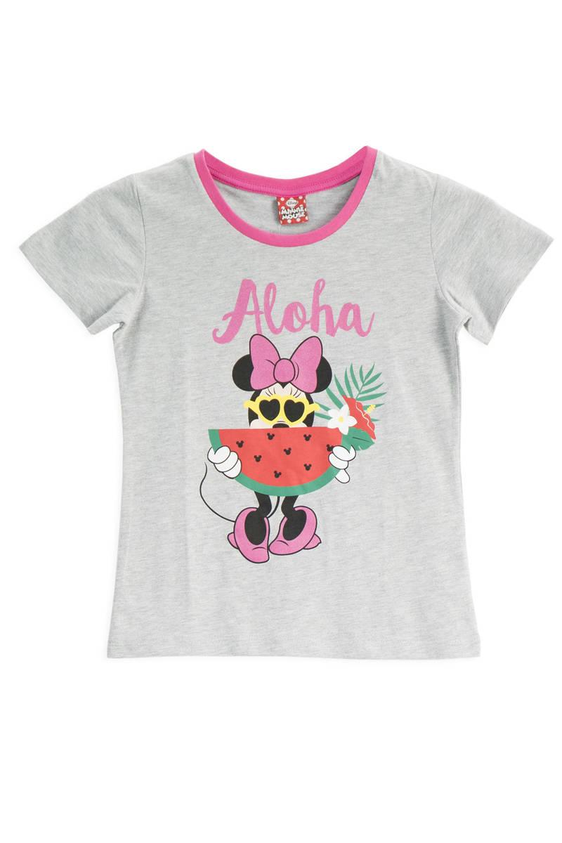 Minnie Mouse - Mickey & Minnie Mouse Lisanslı Grimelanj Kız Çocuk T-Shirt