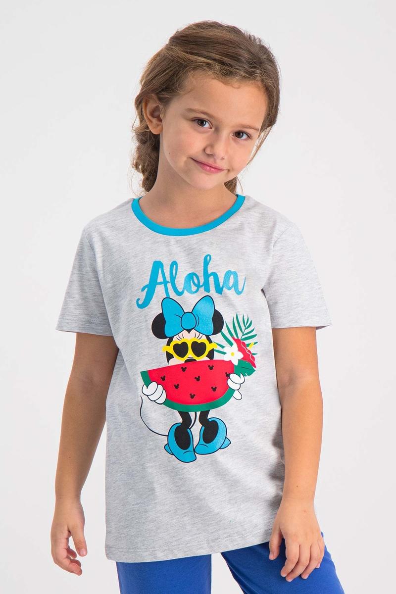 Minnie Mouse - Mickey & Minnie Mouse Lisanslı Karmelanj Kız Çocuk T-Shirt