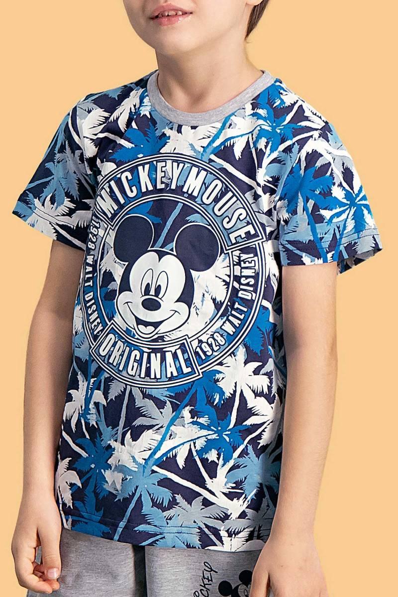 Mickey Mouse - Mickey & Minnie Mouse Lisanslı Lacivert Erkek Çocuk Bermuda Takım (1)