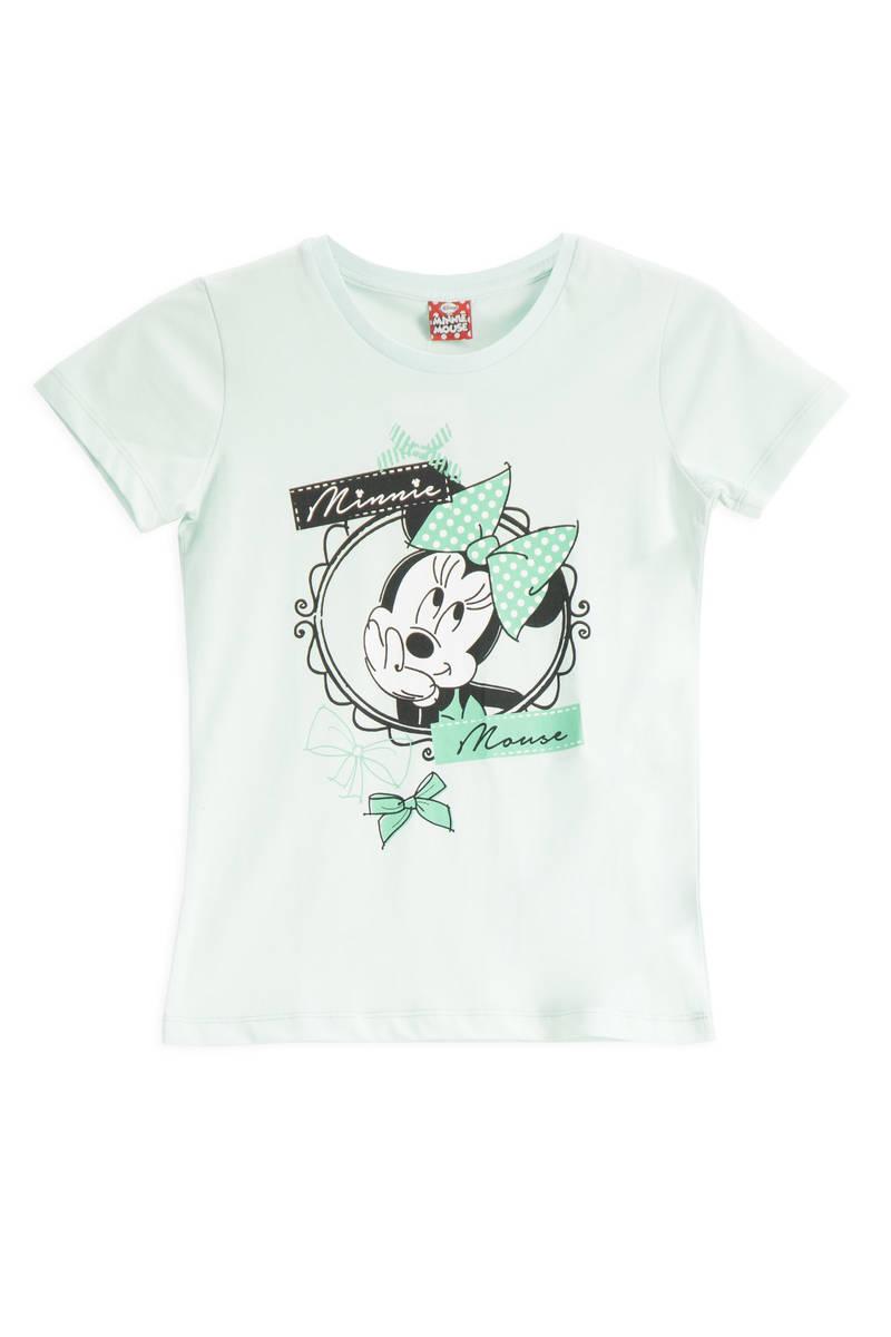 Minnie Mouse - Mickey & Minnie Mouse Lisanslı Mint Kız Çocuk T-Shirt