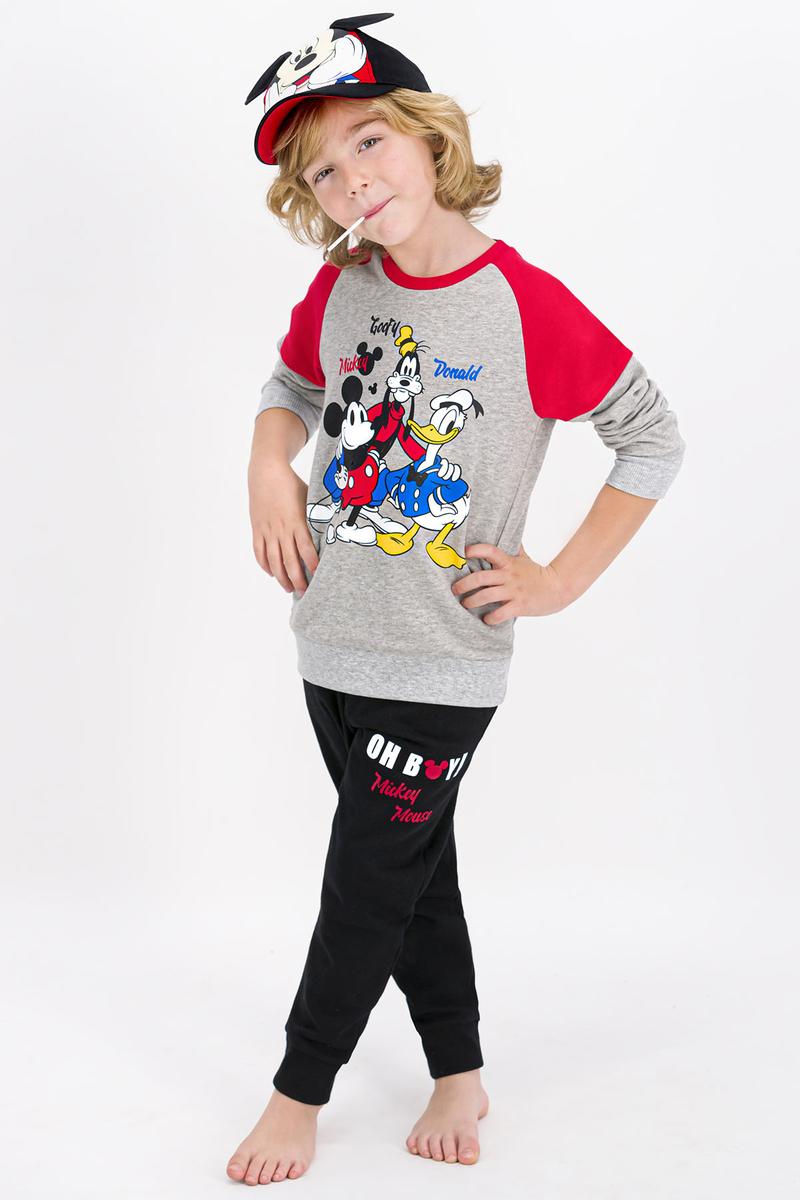Mickey Mouse - Mickey Mouse Lisanslı Grimelanj Erkek Çocuk Eşofman Takımı (1)