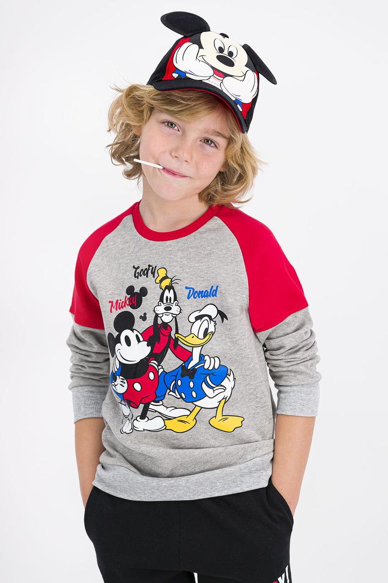 Mickey Mouse - Mickey Mouse Lisanslı Grimelanj Erkek Çocuk Eşofman Takımı