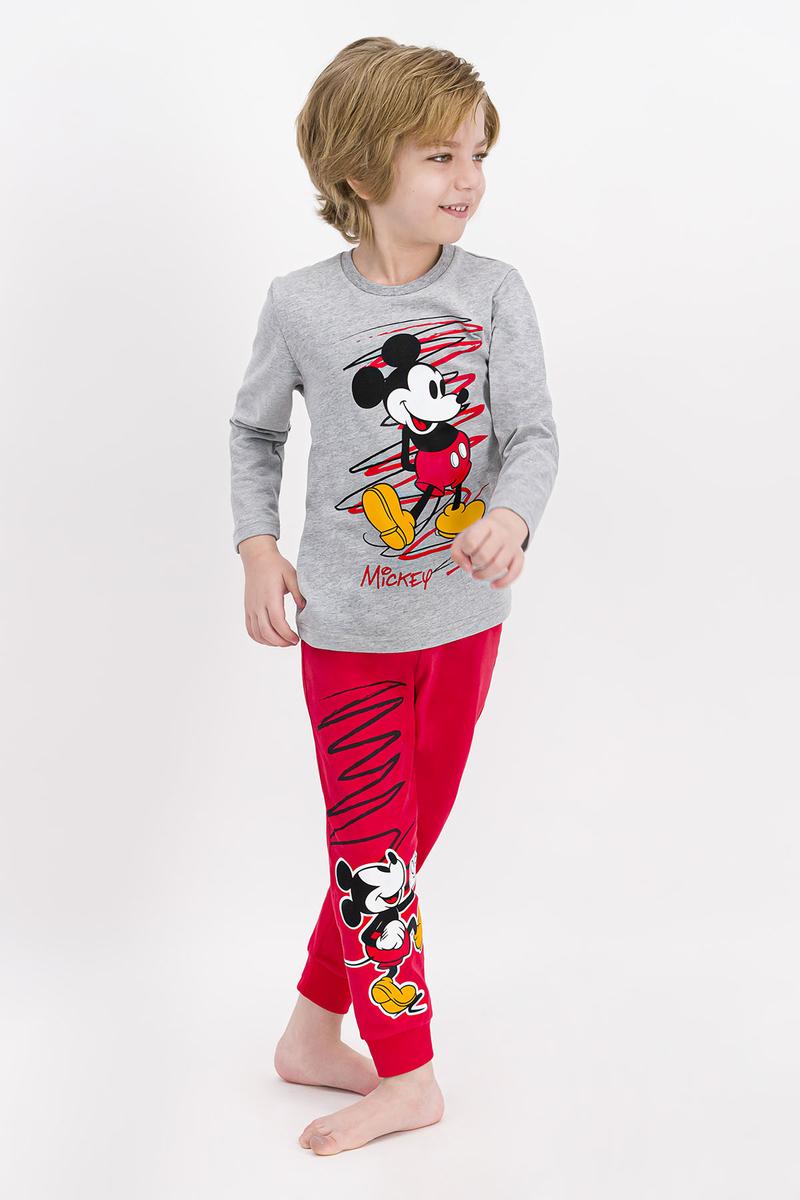 Mickey Mouse - Mickey Mouse Lisanslı Grimelanj Erkek Çocuk Pijama Takımı