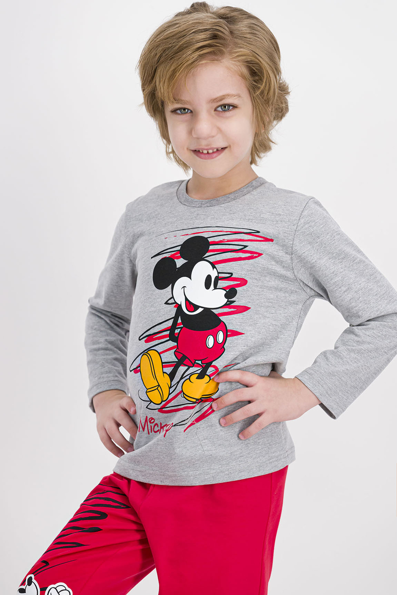 Mickey Mouse - Mickey Mouse Lisanslı Grimelanj Erkek Çocuk Pijama Takımı (1)