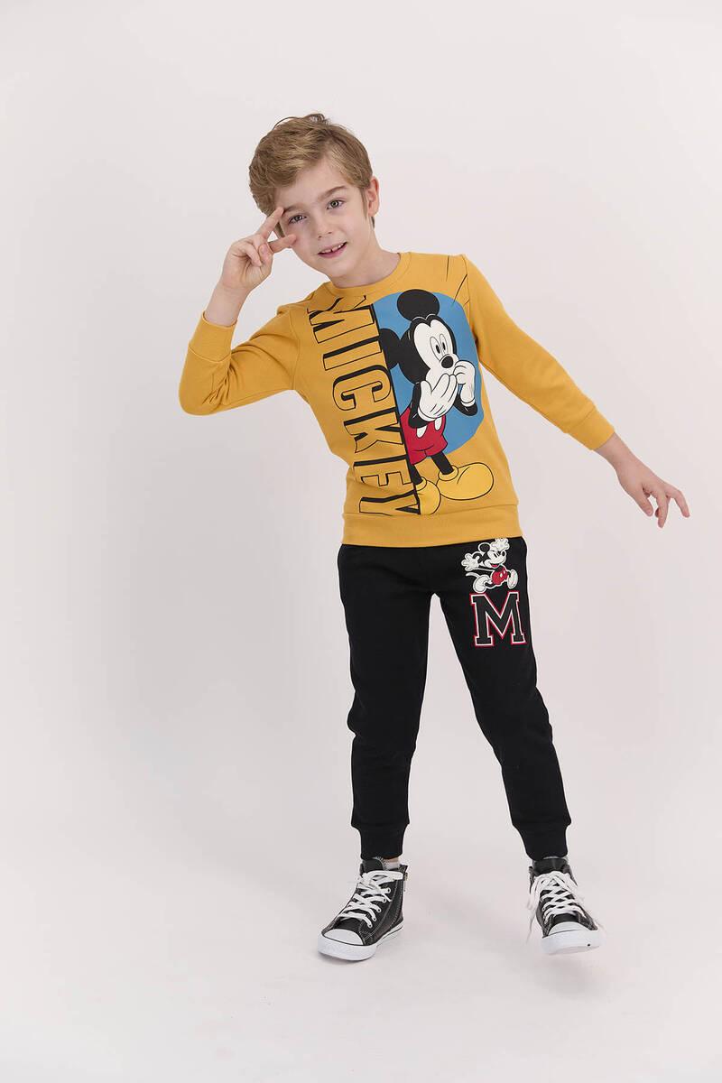 Mickey Mouse - Mickey Mouse Lisanslı Hardal Erkek Çocuk Eşofman Takımı