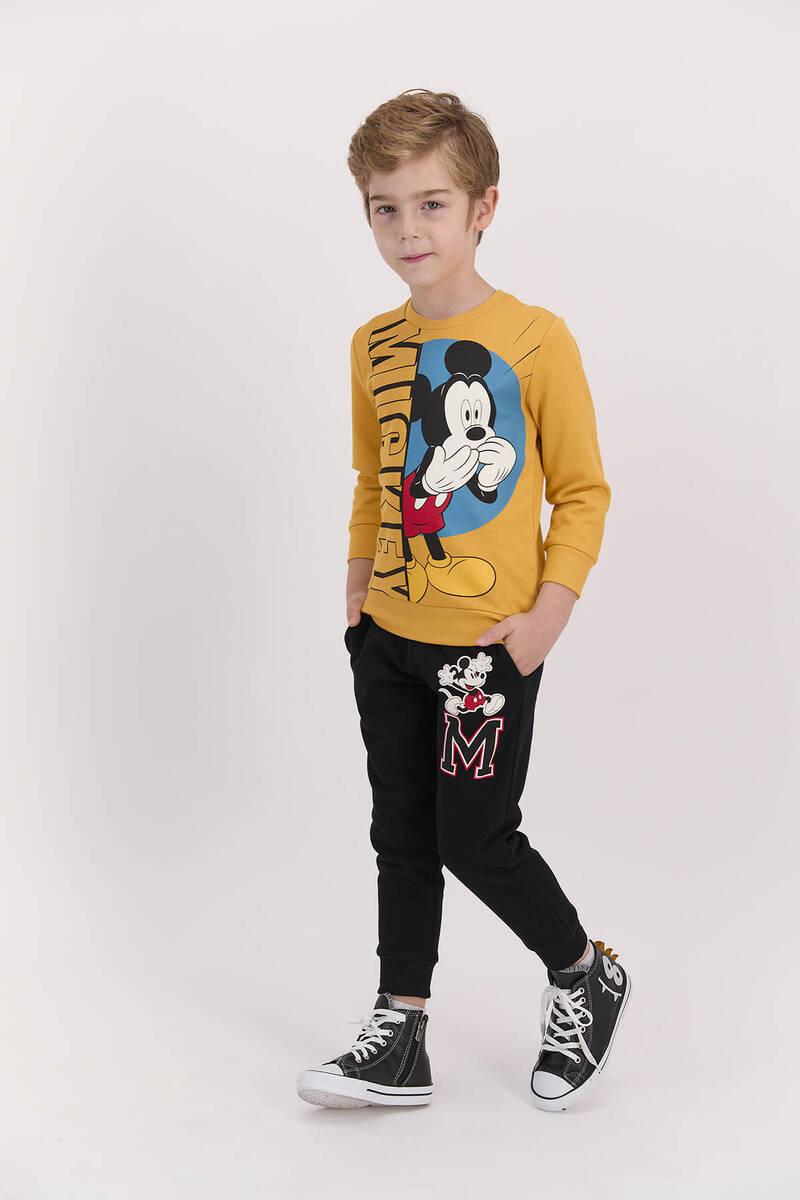 Mickey Mouse - Mickey Mouse Lisanslı Hardal Erkek Çocuk Eşofman Takımı (1)