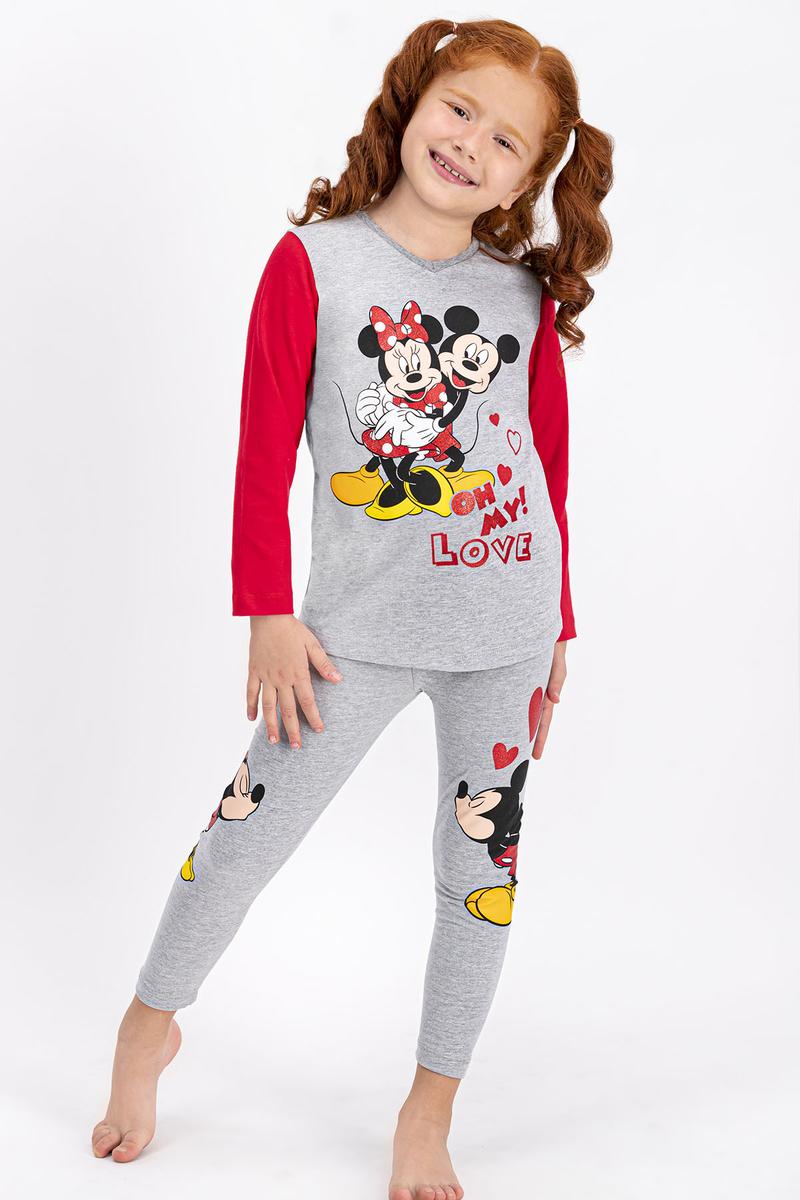 Minnie Mouse - Minnie Mouse Lisanslı Grimelanj Kız Çocuk Tayt Takım