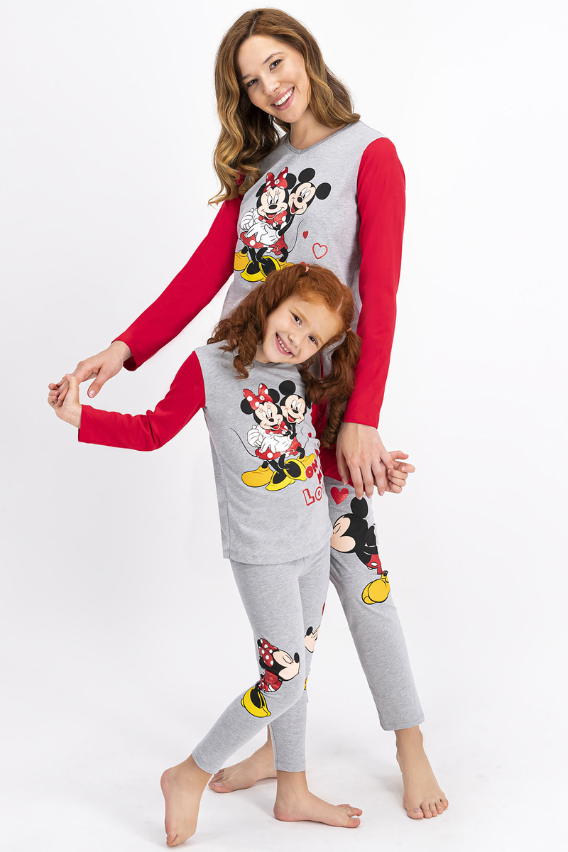 Minnie Mouse - Minnie Mouse Lisanslı Grimelanj Kız Çocuk Tayt Takım (1)