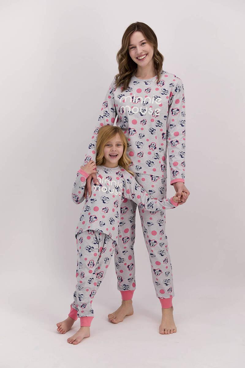 Minnie Mouse - Minnie Mouse Lisanslı Grimelanj Kadın Pijama Takımı