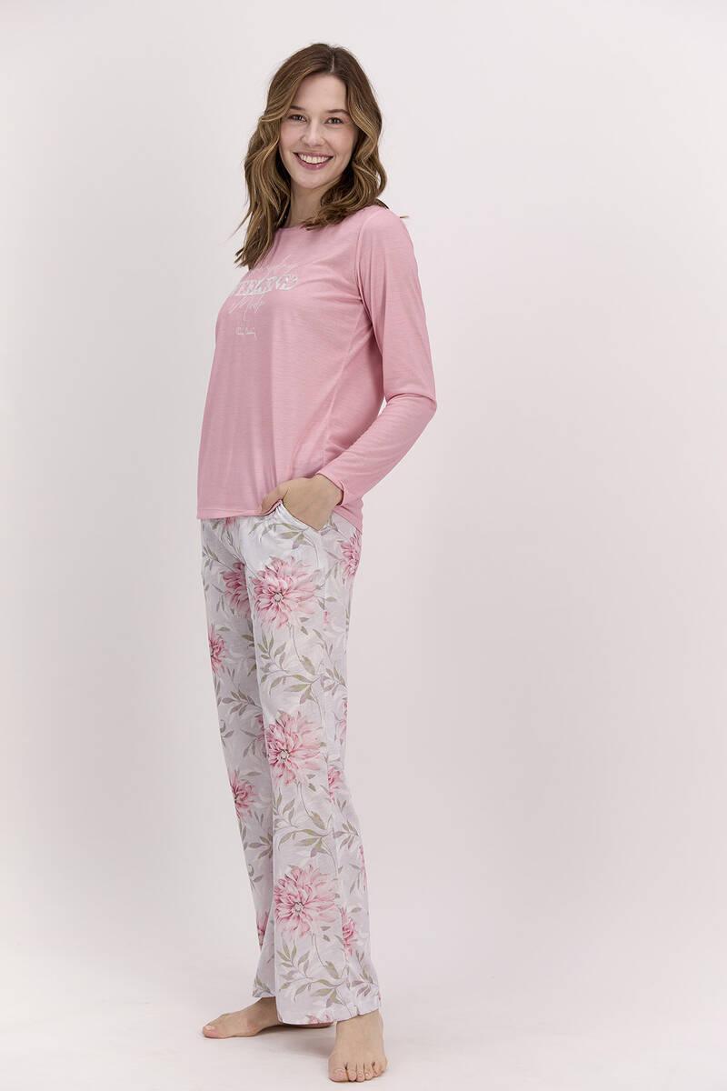 Pierre Cardin - Pierre Cardin Every Day Weekend Mood Açık Pembe Kadın Pijama Takımı (1)