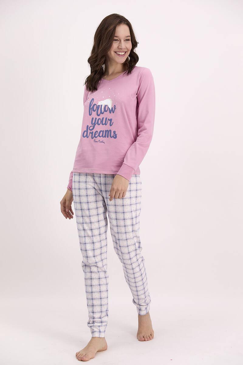 Pierre Cardin - Pierre Cardin Follow Your Dreams Açık Gül Kurusu Pijama Takımı