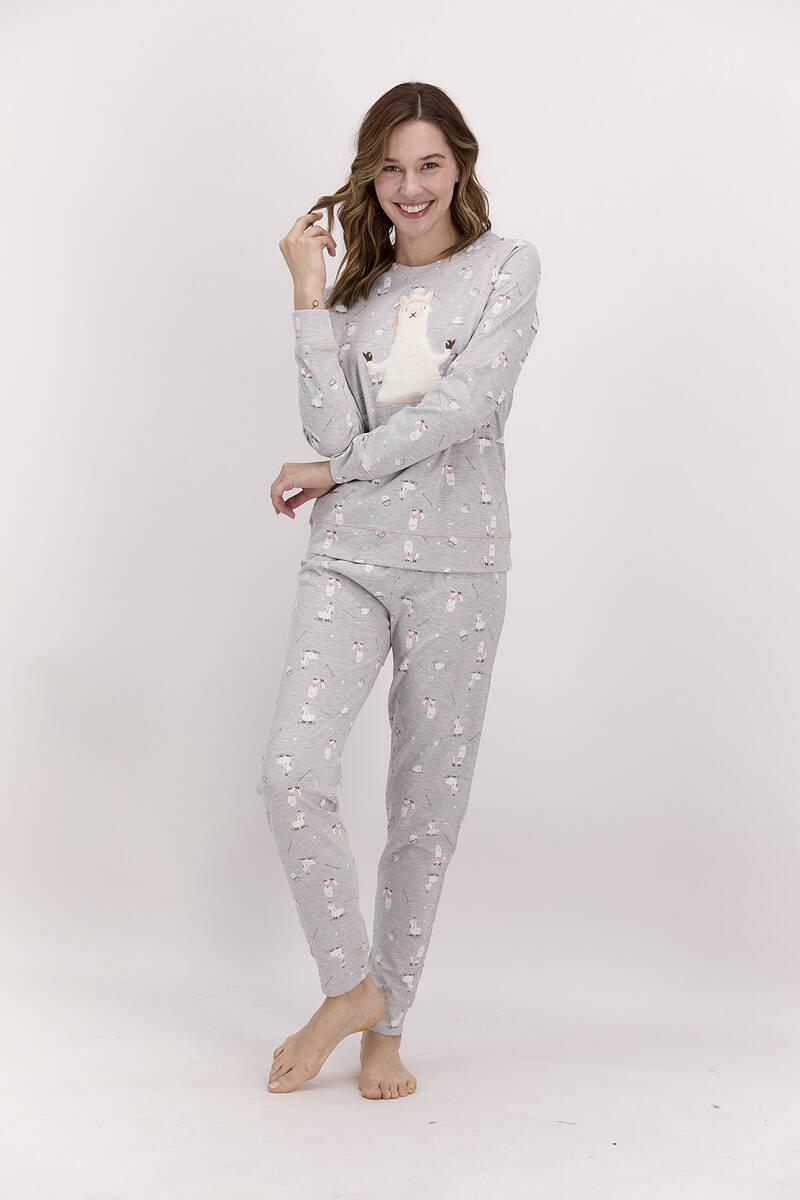 Pierre Cardin - Pierre Cardin Grimelanj Kadın Uzun Kol Pijama Takımı