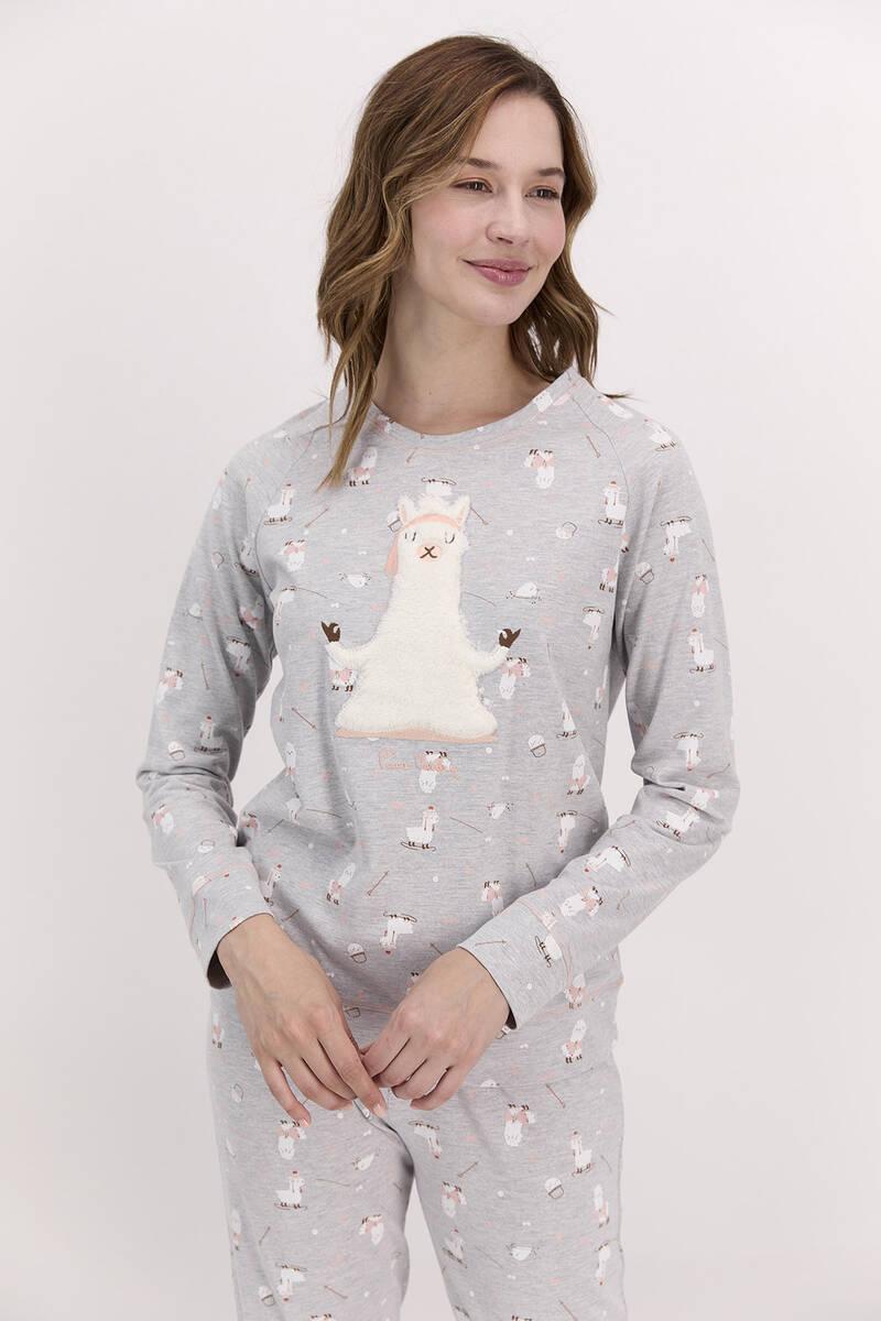 Pierre Cardin - Pierre Cardin Grimelanj Kadın Uzun Kol Pijama Takımı (1)