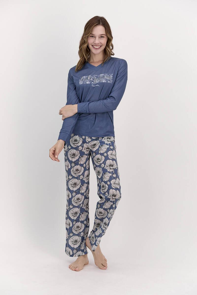 Pierre Cardin - Pierre Cardin Looks Gorgeous İndigo Kadın Pijama Takımı