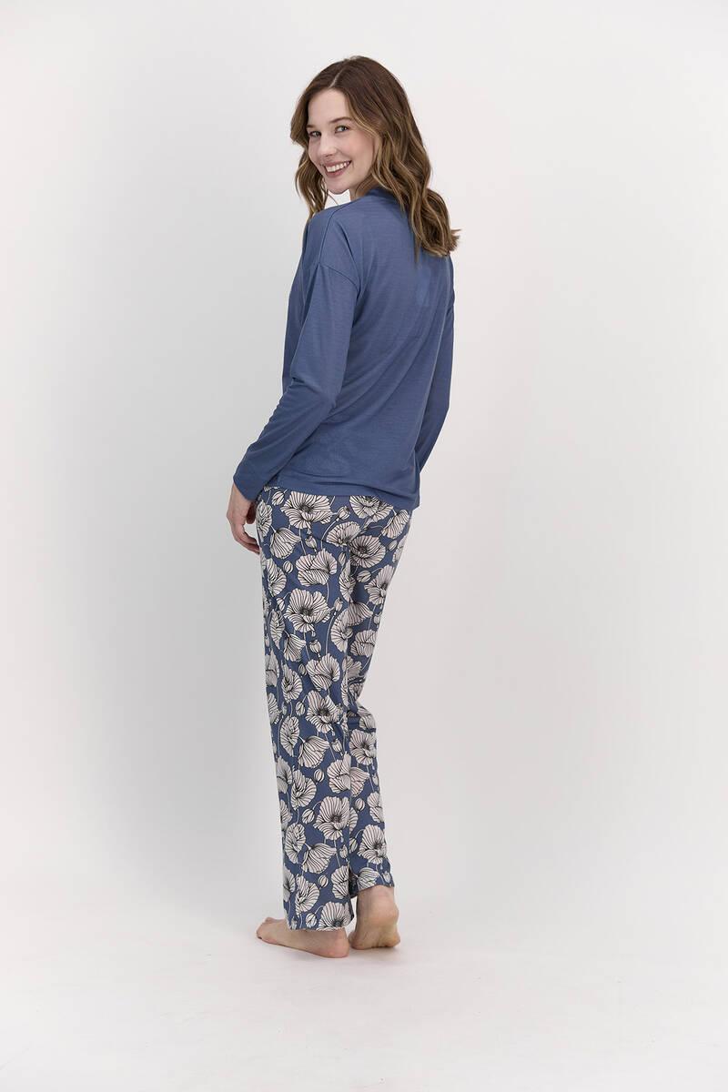 Pierre Cardin - Pierre Cardin Looks Gorgeous İndigo Kadın Pijama Takımı (1)