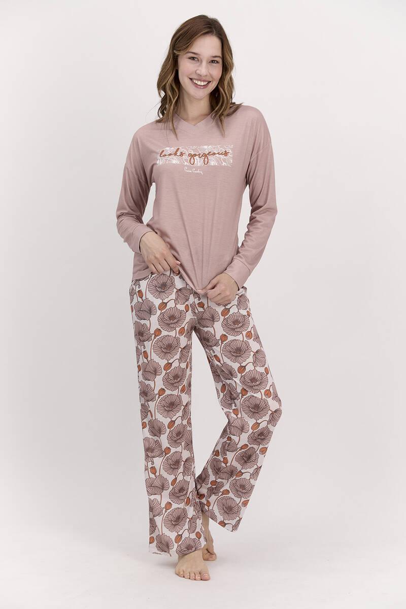 Pierre Cardin - Pierre Cardin Looks Gorgeous Vizon Kadın Pijama Takımı