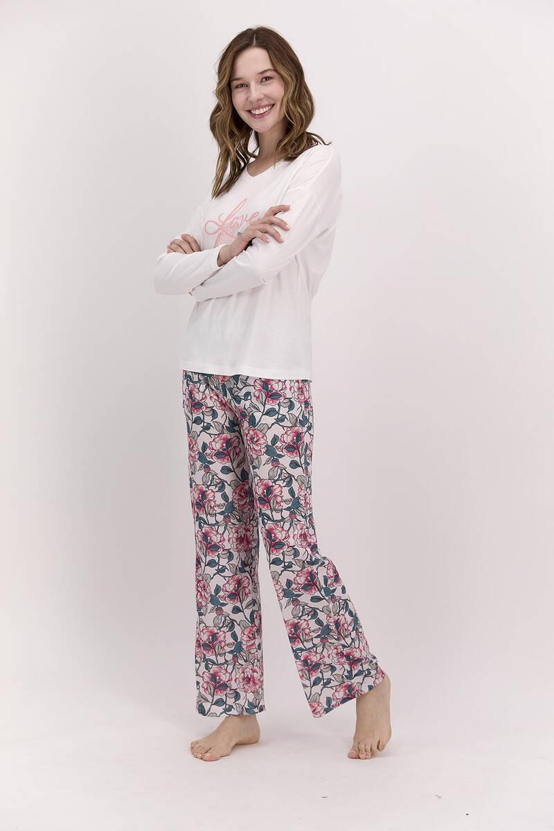 Pierre Cardin - Pierre Cardin Love Deeply Krem Kadın Pijama Takımı (1)