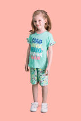 RolyPoly - RolyPoly Aloha Mint Yeşili Kız Çocuk Bermuda Takım