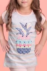 RolyPoly - RolyPoly Ananas Açık Gri Kız Çocuk Kapri Takım (1)