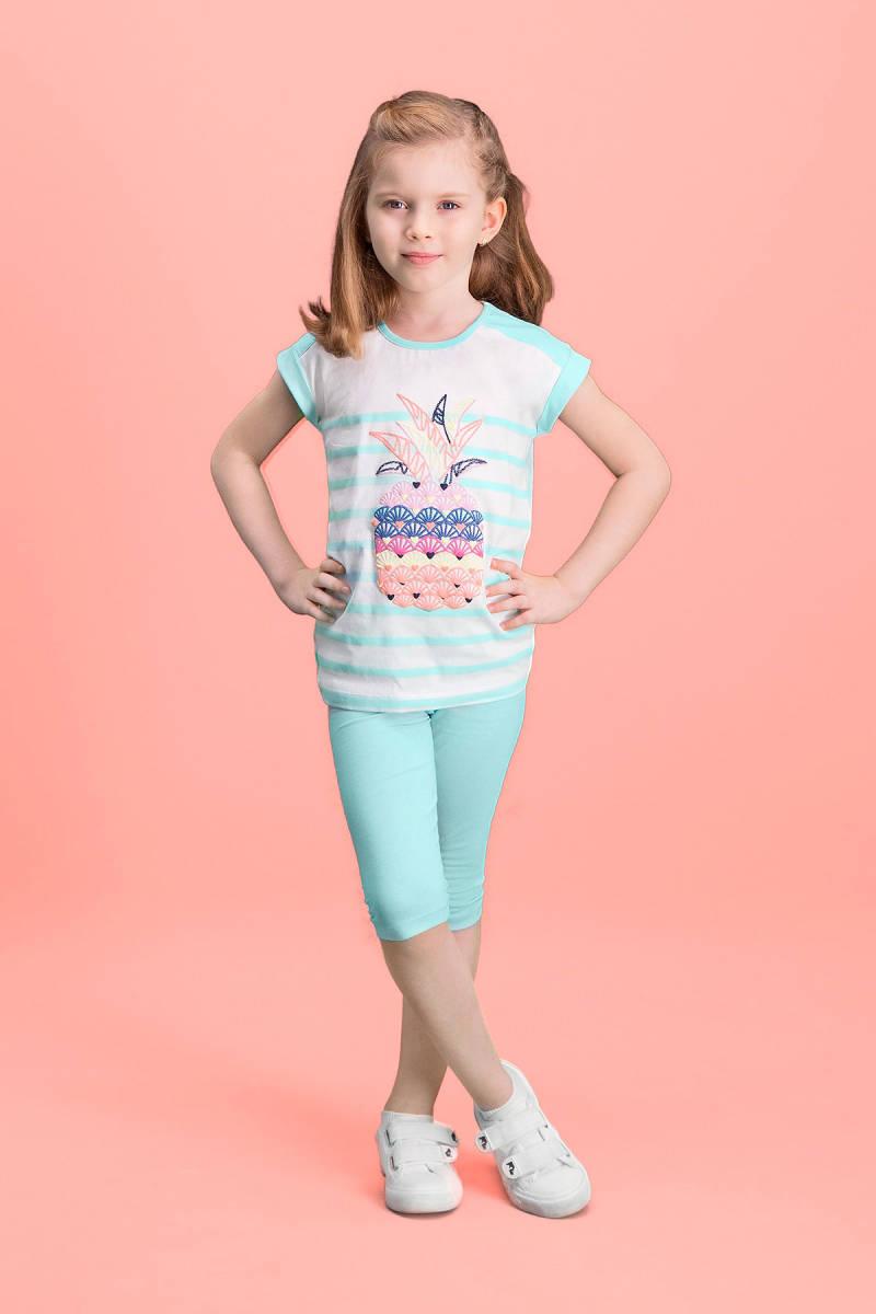 RolyPoly - RolyPoly Ananas Krem Kız Çocuk Kapri Takım