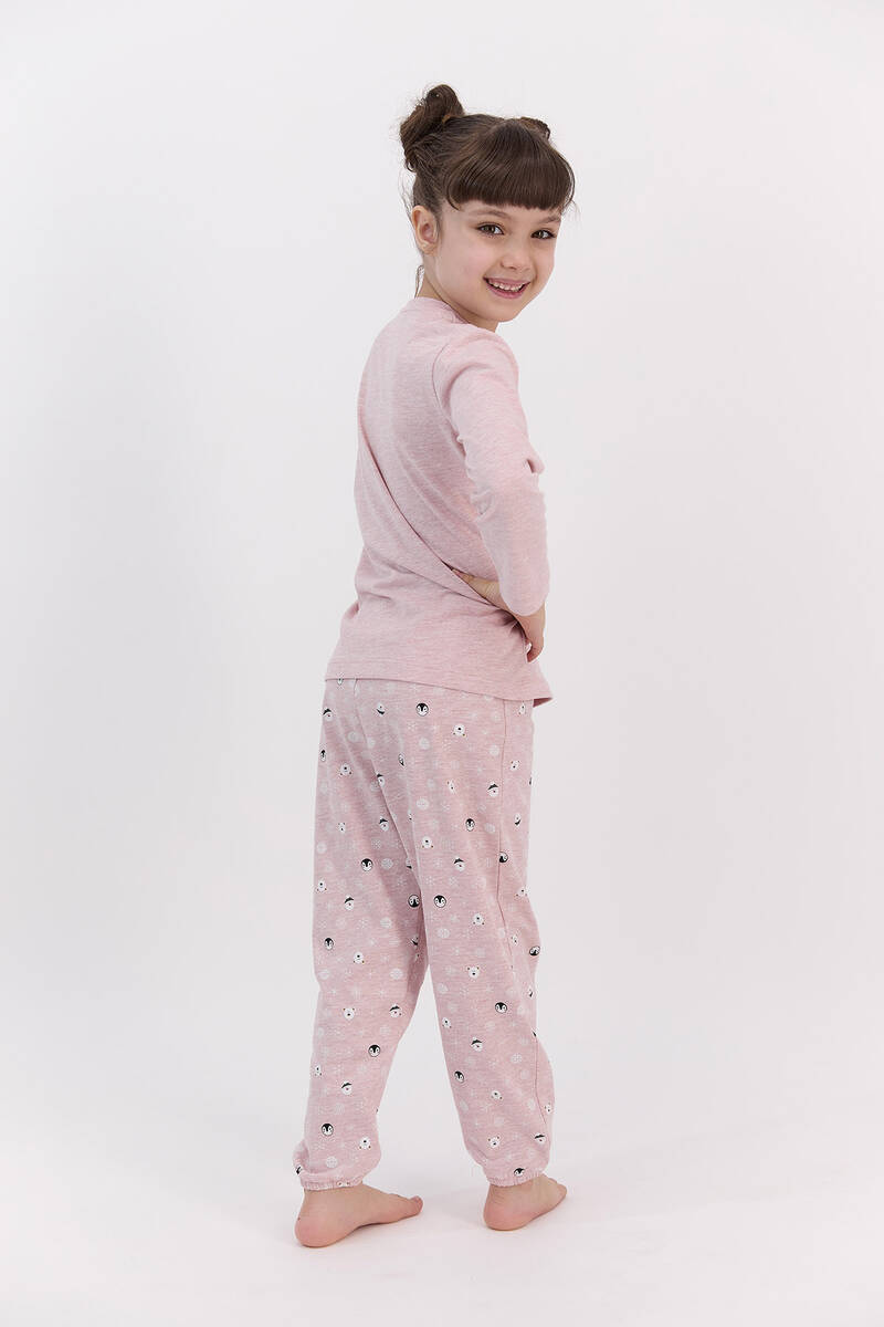 RolyPoly - RolyPoly Better Together Pembemelanj Kız Çocuk Pijama Takımı (1)