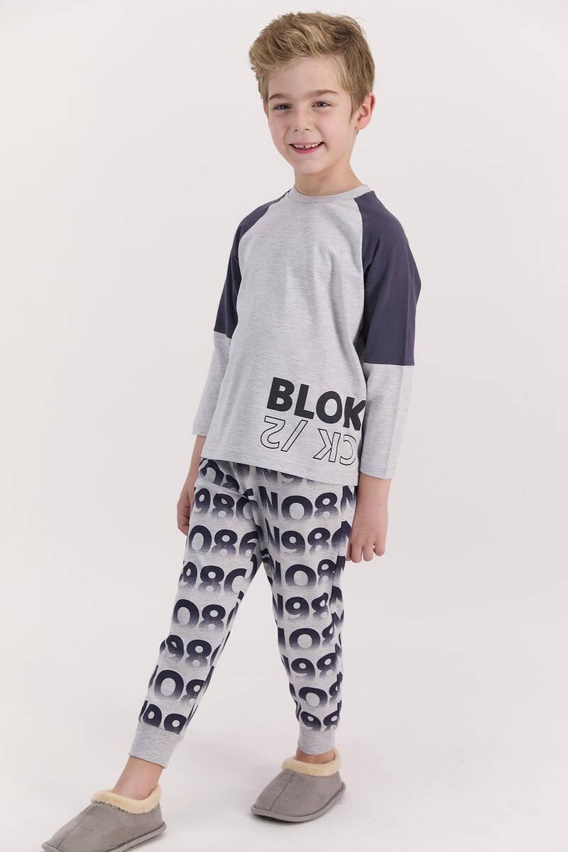 RolyPoly - RolyPoly Blok Grimelanj Erkek Çocuk Pijama Takımı