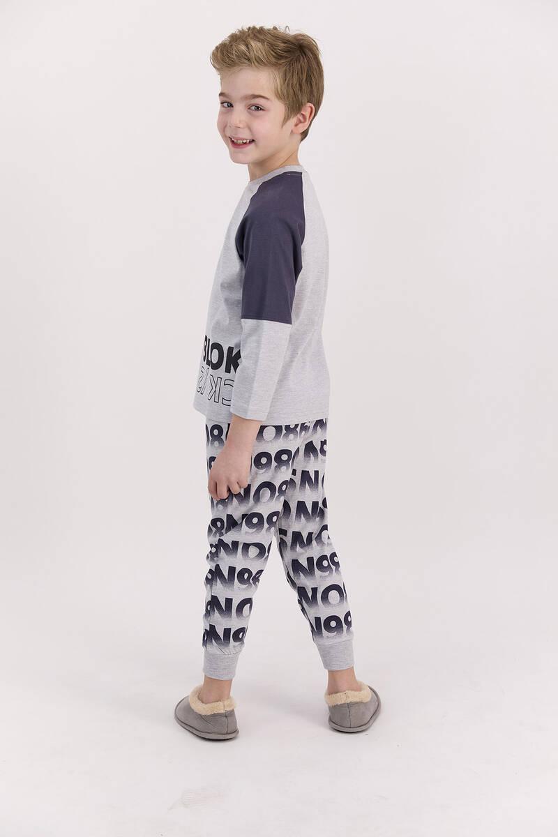 RolyPoly - RolyPoly Blok Grimelanj Erkek Çocuk Pijama Takımı (1)