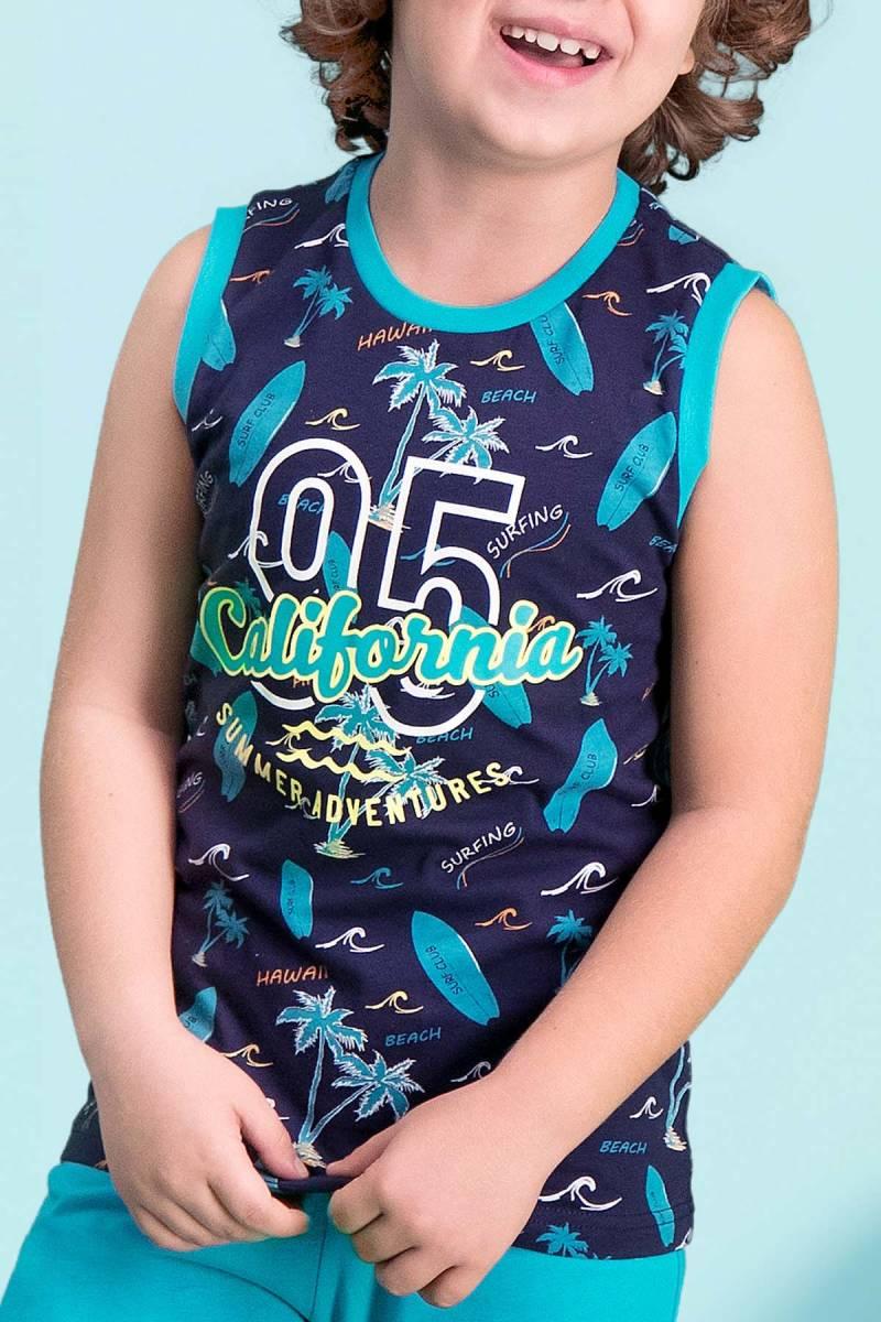 RolyPoly - RolyPoly California 95 Lacivert Erkek Çocuk Bermuda Takım (1)