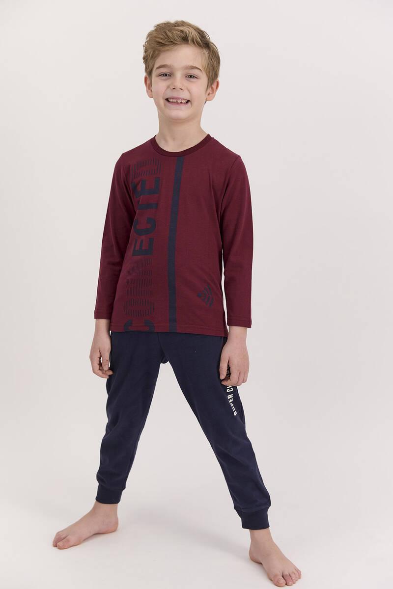RolyPoly - RolyPoly Connected Bordo Erkek Çocuk Pijama Takımı